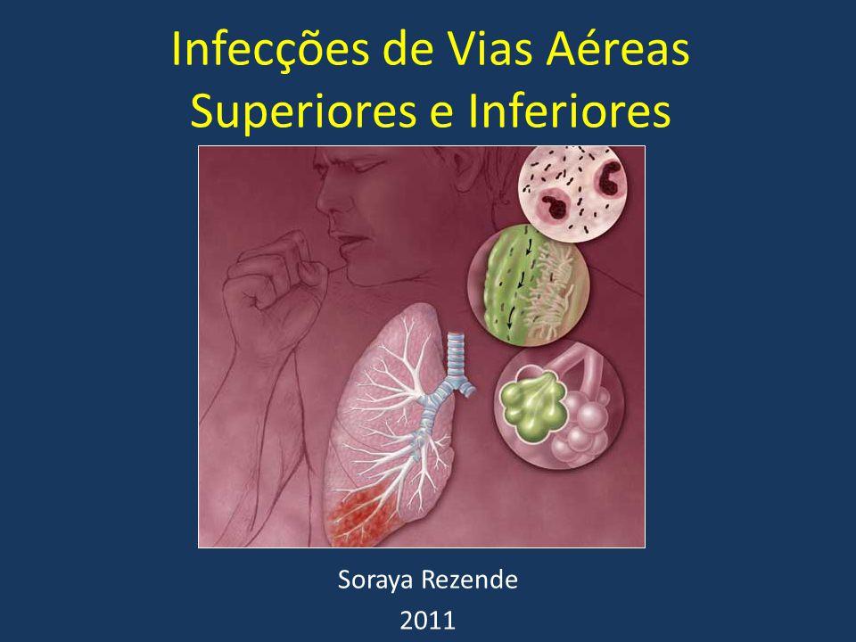Infecções de Vias Aéreas Superiores e Inferiores Soraya Rezende 2011