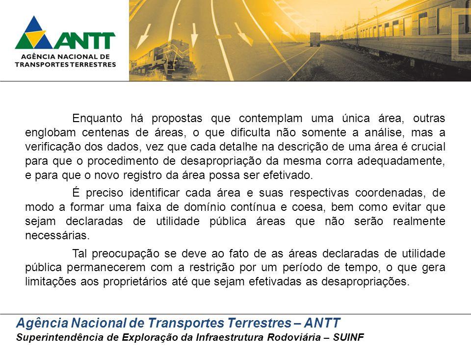 Agência Nacional de Transportes Terrestres – ANTT Superintendência de Exploração da Infraestrutura Rodoviária – SUINF Enquanto há propostas que contem