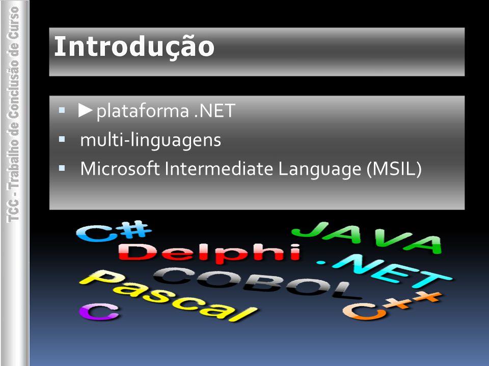 Introdução  ► objetivos   especificar uma linguagem de programação   implementar um compilador (4 módulos)   novas funcionalidades
