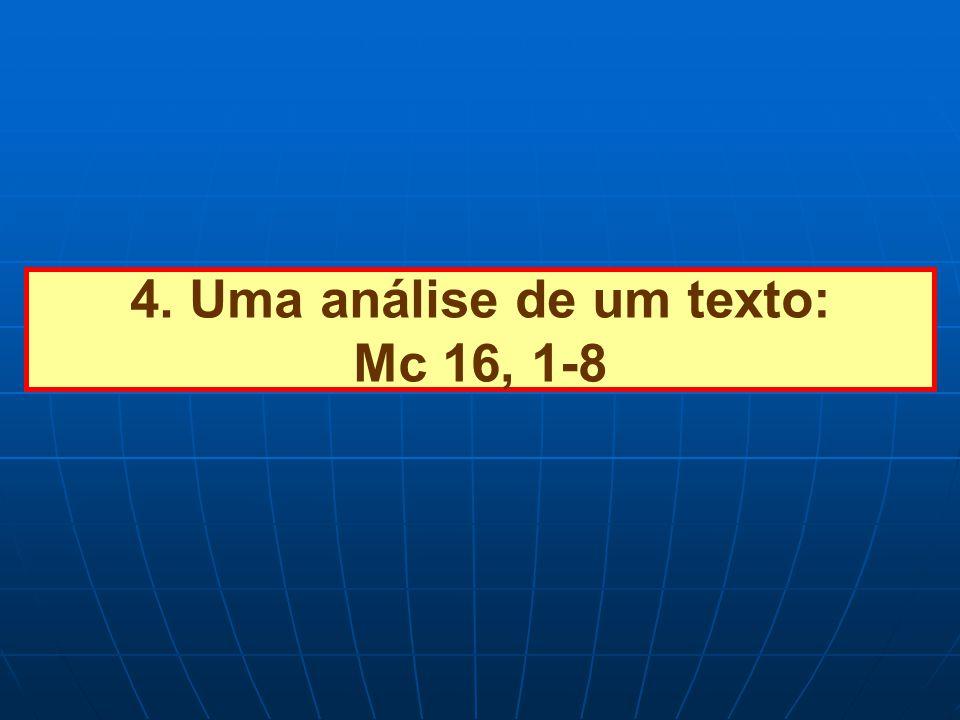 4. Uma análise de um texto: Mc 16, 1-8