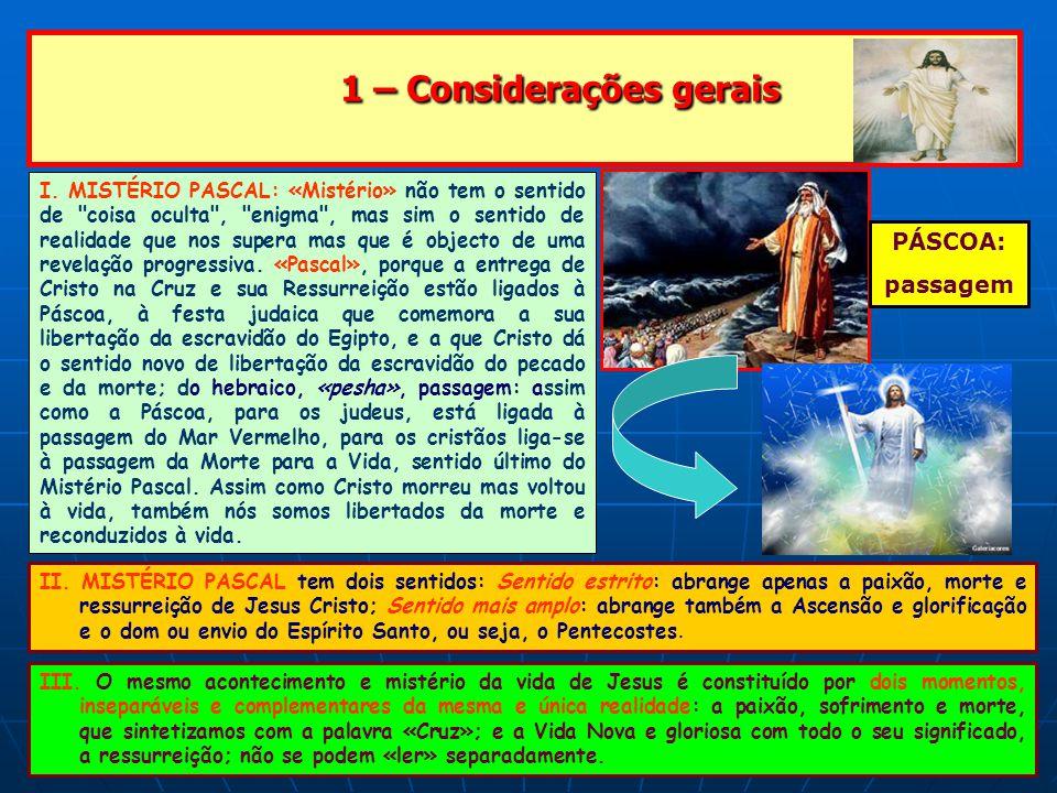 1 – Considerações gerais 1 – Considerações gerais IV.