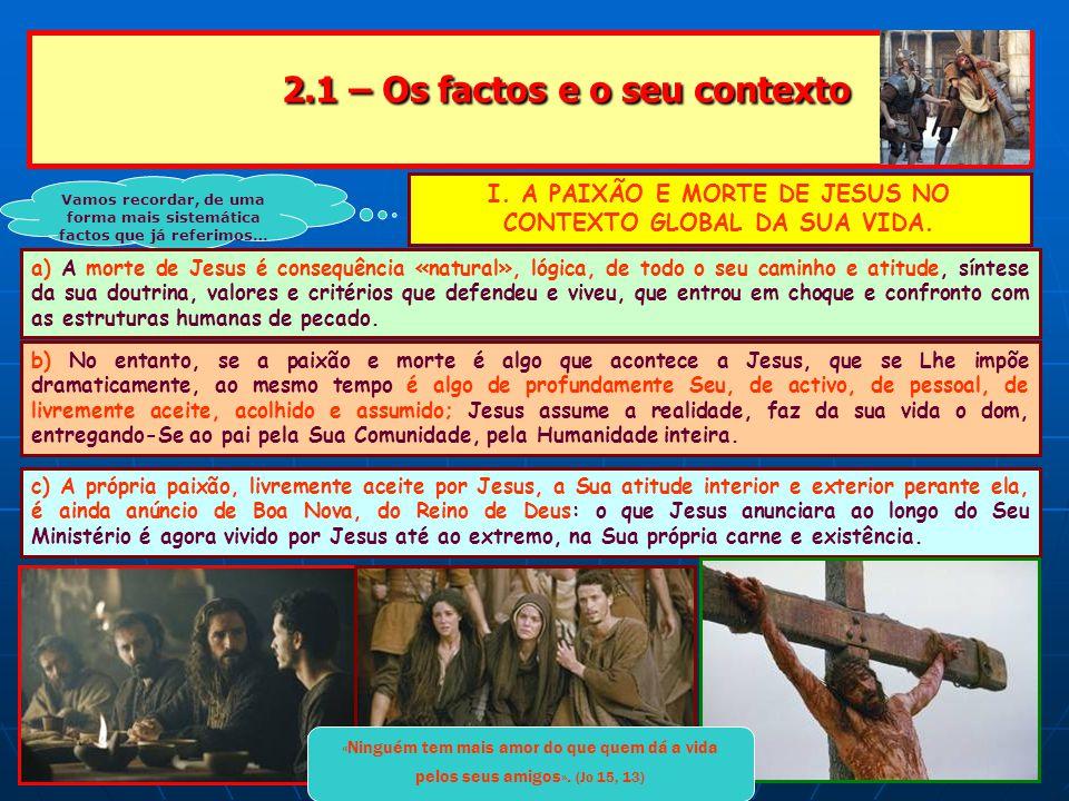 2.1 – Os factos e o seu contexto 2.1 – Os factos e o seu contexto Vamos recordar, de uma forma mais sistemática factos que já referimos… I.