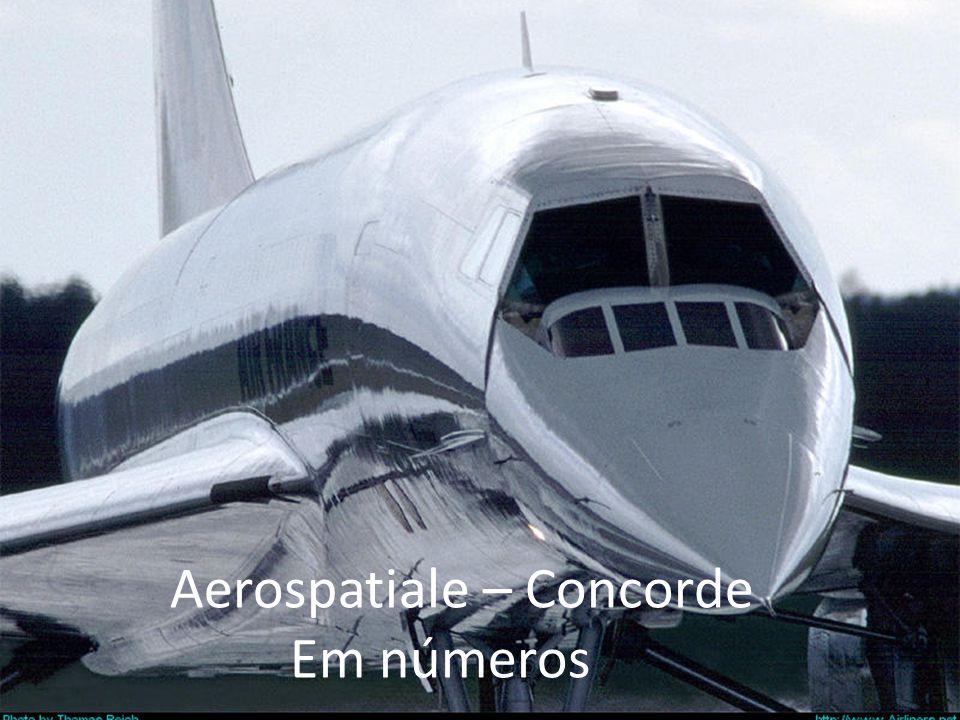 A primeira e única aeronave de passageiros supersônica a fazer vôos regulares e capaz de voar 2 vezes a velocidade do som.