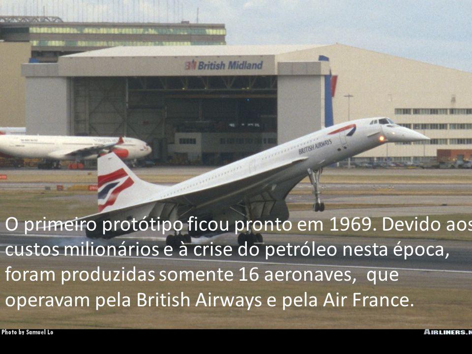 O primeiro protótipo ficou pronto em 1969. Devido aos custos milionários e à crise do petróleo nesta época, foram produzidas somente 16 aeronaves, que