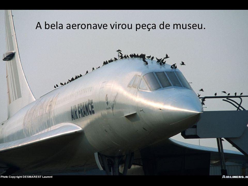 A bela aeronave virou peça de museu.