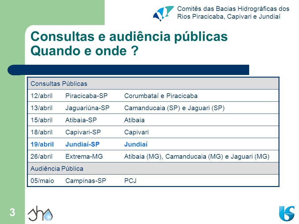 Comitês das Bacias Hidrográficas dos Rios Piracicaba, Capivari e Jundiaí 4 O que é um Plano de Bacias .