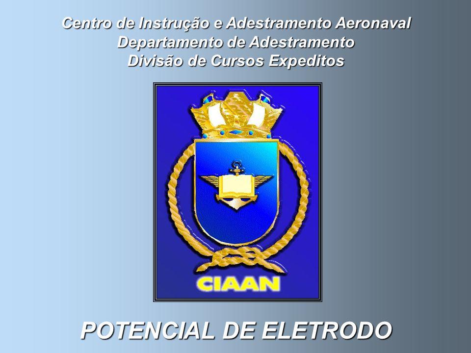 Centro de Instrução e Adestramento Aeronaval Departamento de Adestramento Divisão de Cursos Expeditos POTENCIAL DE ELETRODO