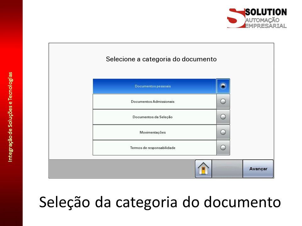 Integração de Soluções e Tecnologias Confirmação de criação de arquivo O nome do arquivo é formado pelo tipo do documento, seguido pelo número da matrícula e data da digitalização: Facilmente localizável