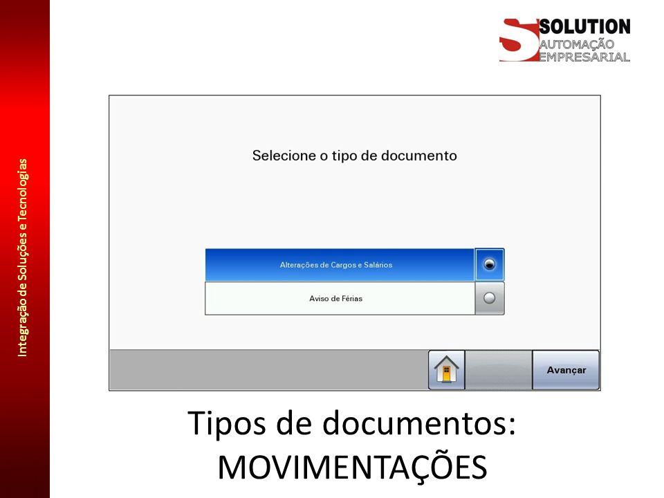 Integração de Soluções e Tecnologias Tipos de documentos: TERMOS DE RESPONSABILIDADE
