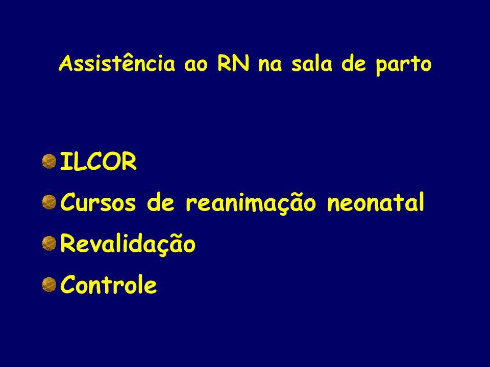 Assistência ao RN na sala de parto ILCOR Cursos de reanimação neonatal Revalidação Controle