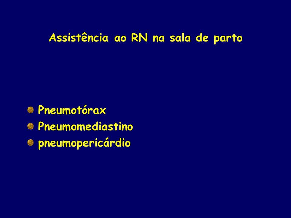 Assistência ao RN na sala de parto Pneumotórax Pneumomediastino pneumopericárdio