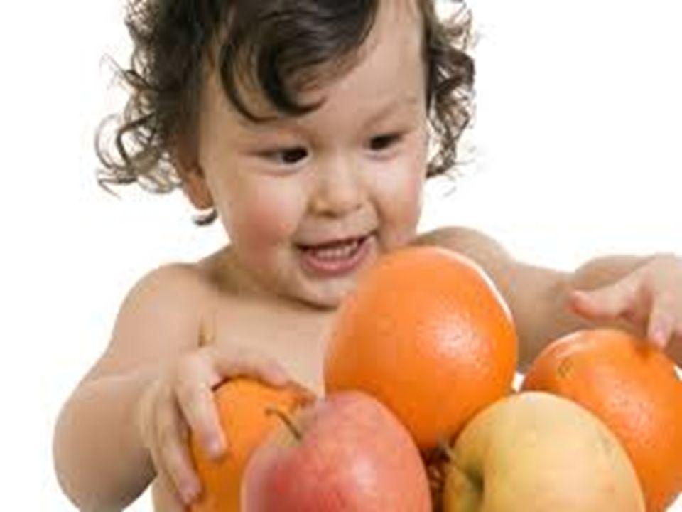 O que são alimentos saudáveis para crianças.