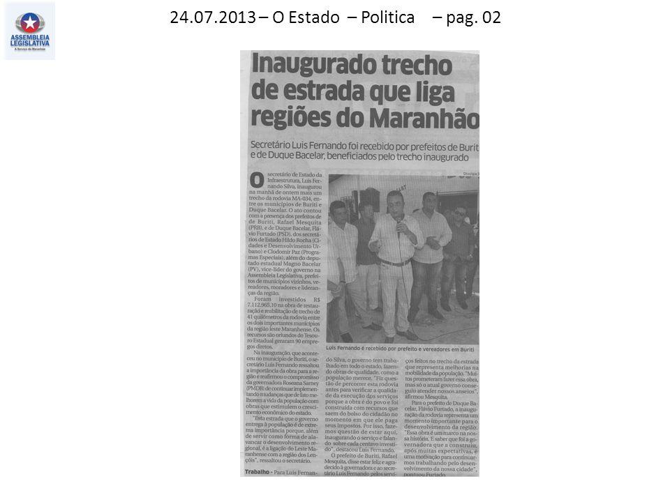 24.07.2013 – O Estado – Politica – pag. 02