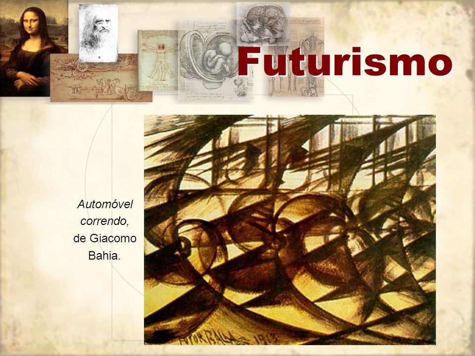 Futurismo Futurismo na literatura: A destruição da sintaxe e a disposição das palavras em liberdade ; O emprego de verbos no infinitivo, com vistas à substantivação da linguagem; A abolição dos adjetivos e dos advérbios; O emprego do substantivo duplo (burguês-burguês, burguês-níquel, mulher-golfo) em lugar do substantivo acompanhado de adjetivo; A abolição da pontuação, que seria substituída por sinais da matemática (+), (-), (=), ( ) e pelos sinais musicais; A destruição do eu, isto é, toda a psicologia; Onomatopéias e imagens que incorporam o som das engrenagens da máquina; Percepção por analogia.