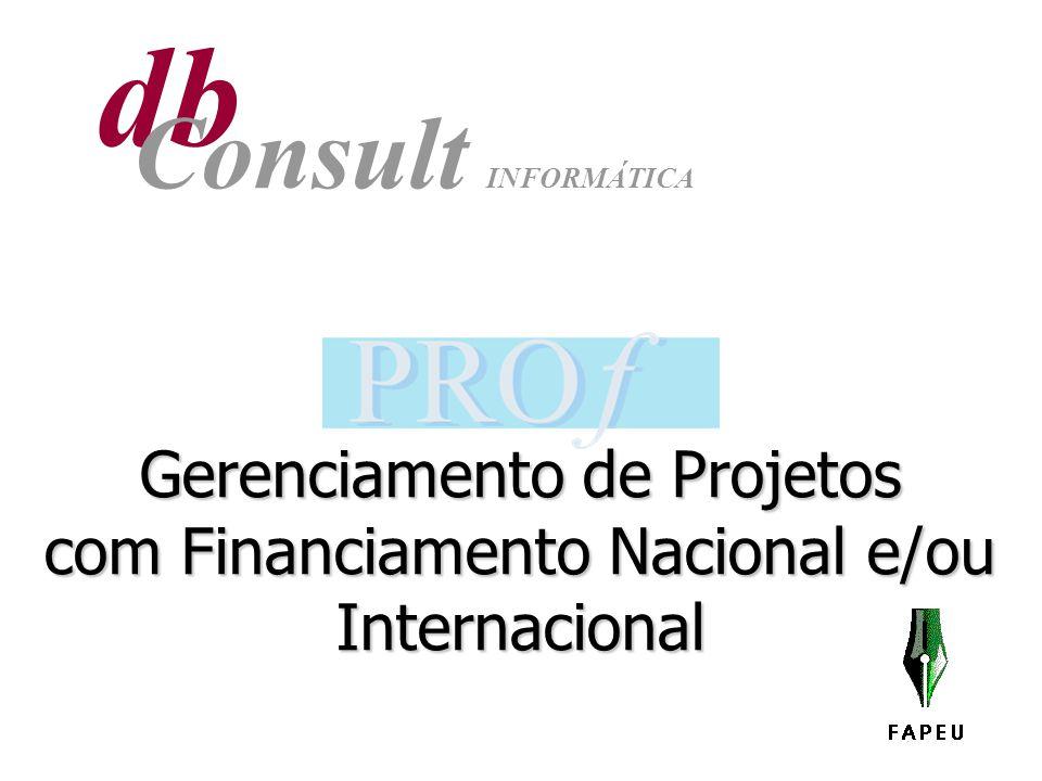 Gerenciamento de Projetos com Financiamento Nacional e/ou Internacional db Consult INFORMÁTICA
