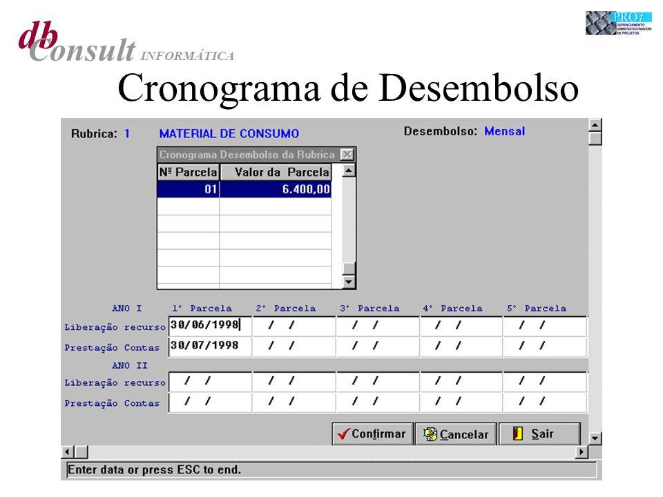 db Consult INFORMÁTICA Cronograma de Desembolso