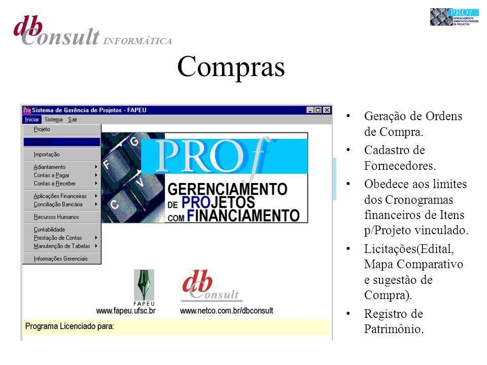 db Consult INFORMÁTICA Compras Geração de Ordens de Compra.