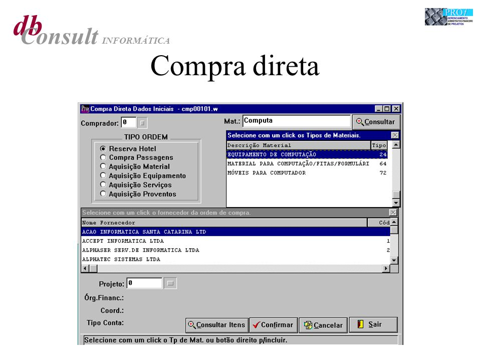 db Consult INFORMÁTICA Compra direta
