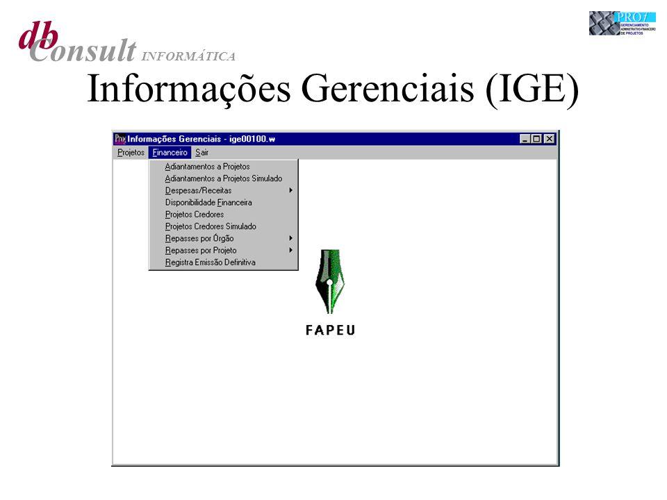 db Consult INFORMÁTICA Informações Gerenciais (IGE)