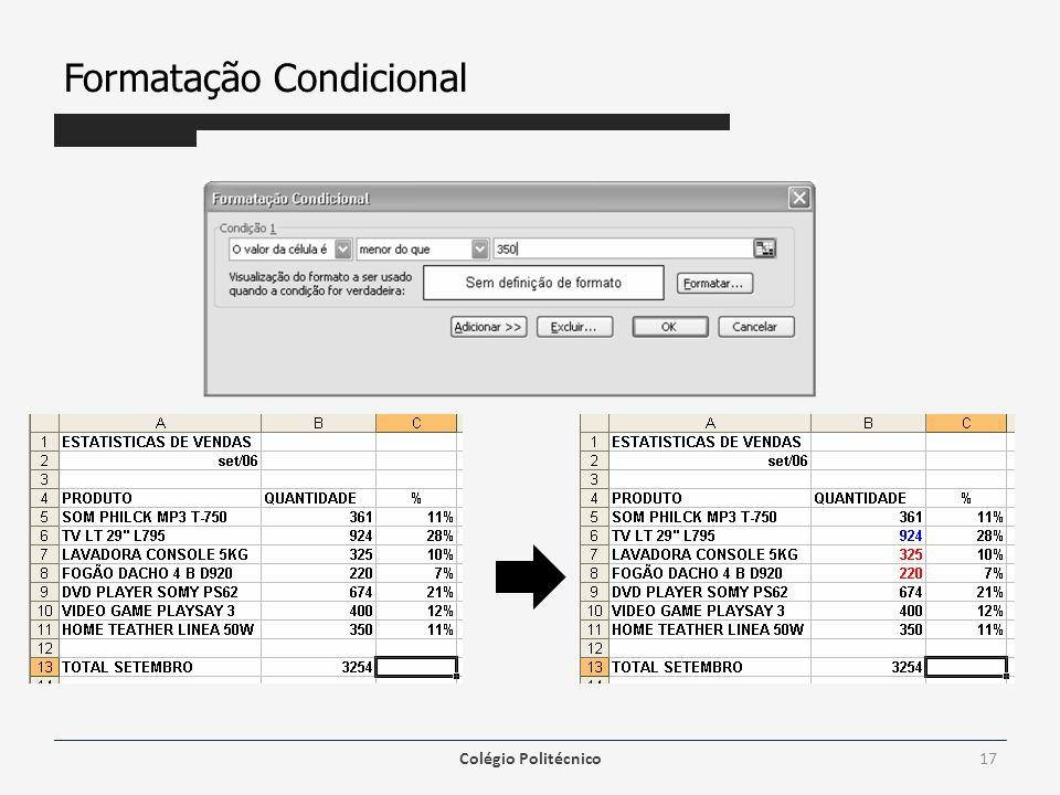 Formatação Condicional Colégio Politécnico17
