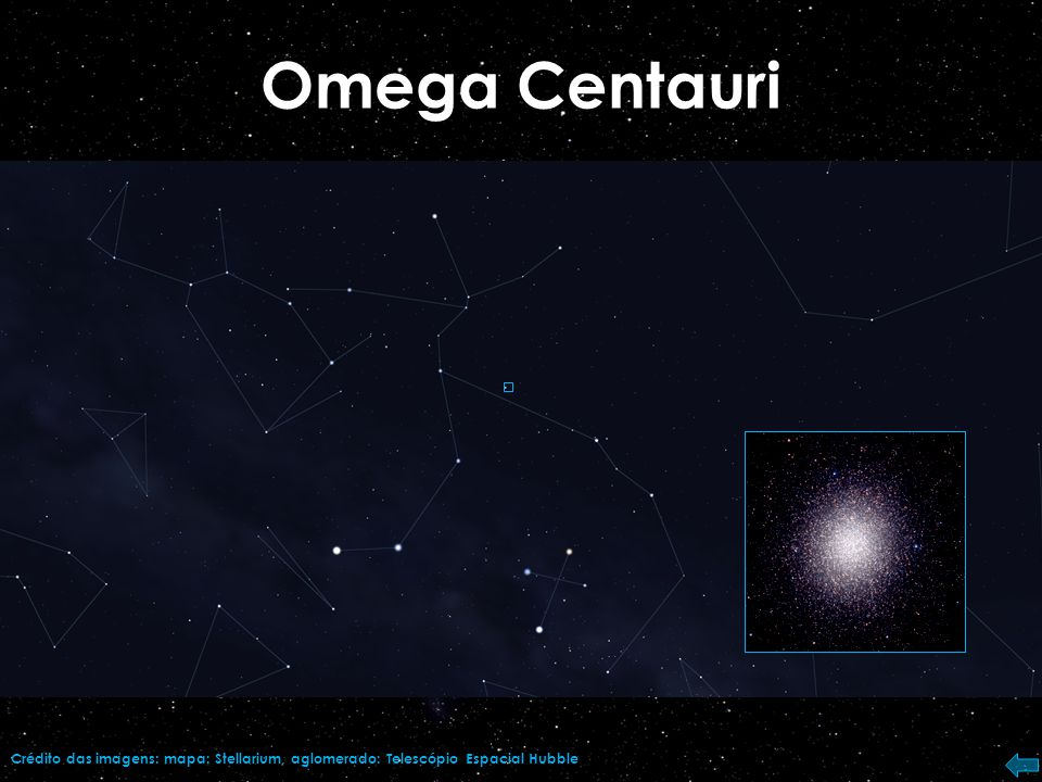 Omega Centauri Crédito da imagem: Telescópio Espacial Hubble