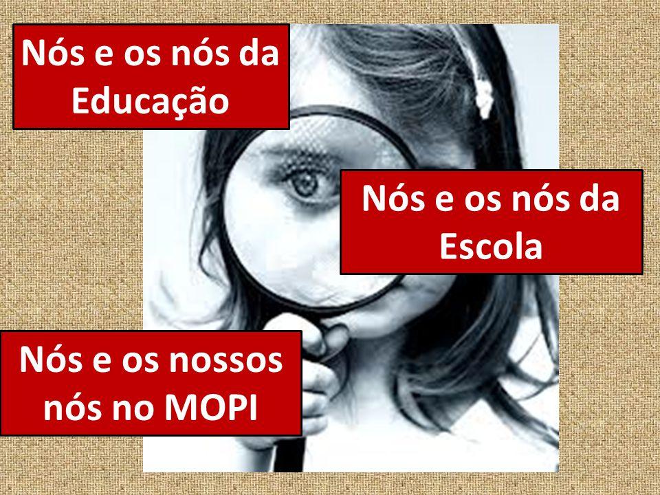 Nós e os nós da Educação Nós e os nós da Escola Nós e os nossos nós no MOPI