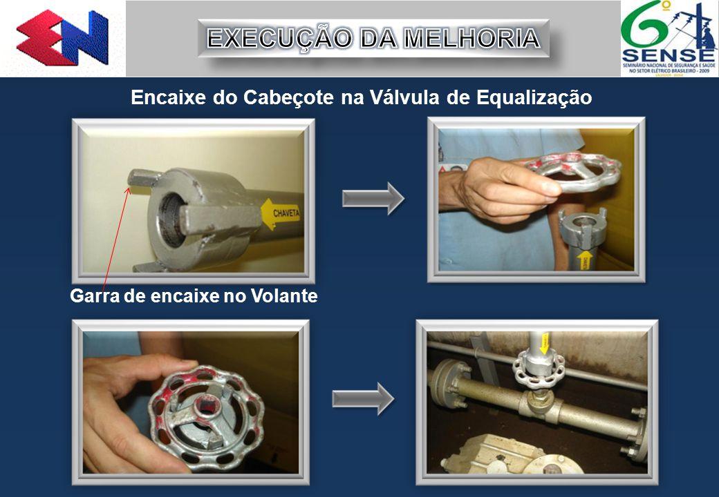 Encaixe do Cabeçote na Válvula de Equalização Garra de encaixe no Volante