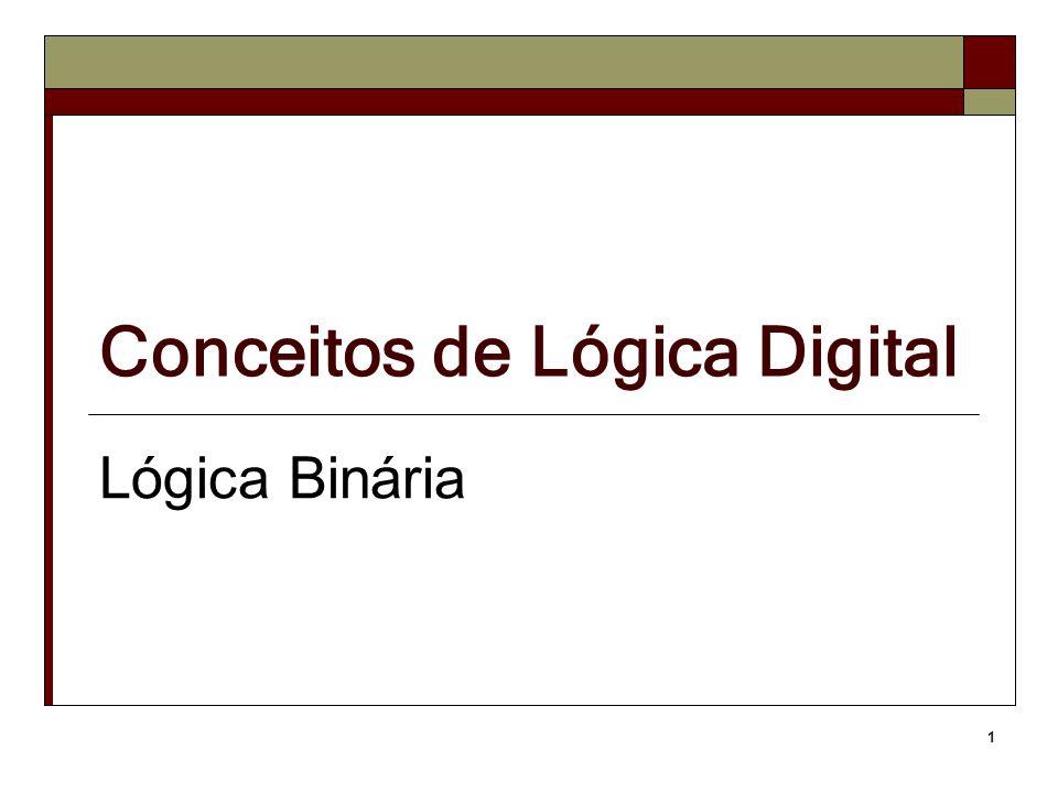 1 Conceitos de Lógica Digital Lógica Binária