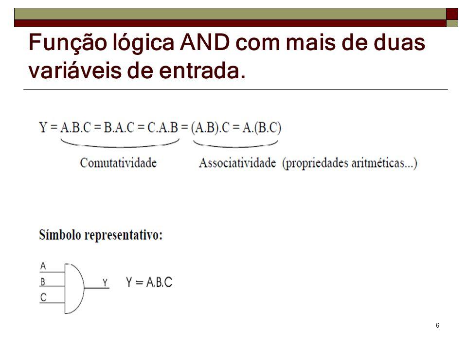 Circuitos Lógicos Obtidos de Expressões Booleanas 17 Expressão Booleana: S=(A + B) ( C + D) Expressão Booleana: S=A.