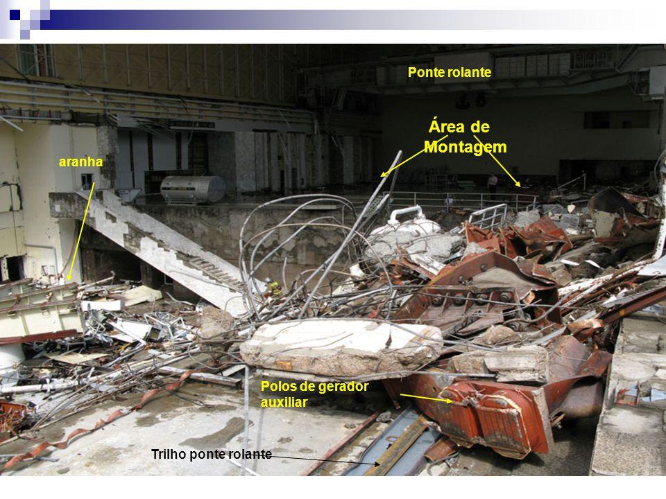 Área de Montagem Polos de gerador auxiliar aranha Ponte rolante Trilho ponte rolante