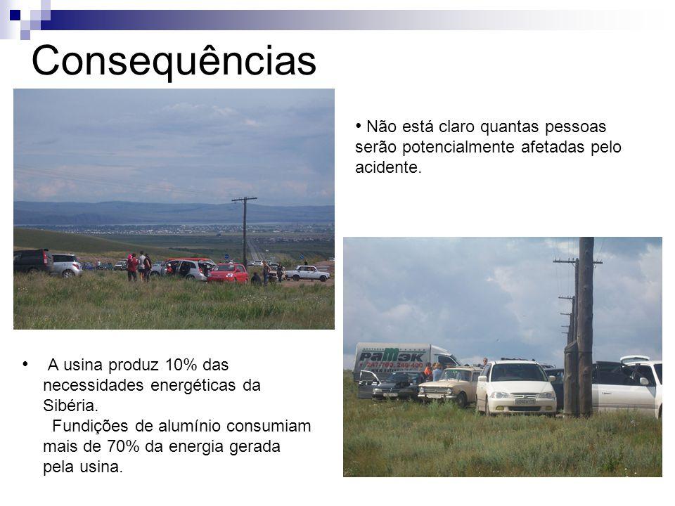 Consequências Não está claro quantas pessoas serão potencialmente afetadas pelo acidente. A usina produz 10% das necessidades energéticas da Sibéria.