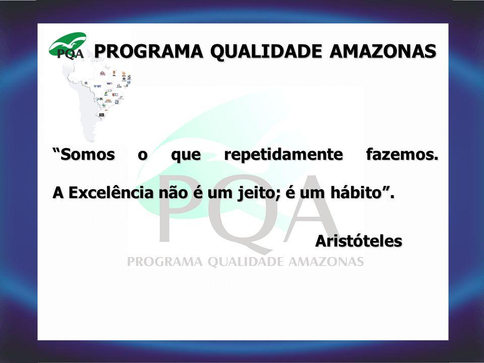 """PROGRAMA QUALIDADE AMAZONAS Somos o que repetidamente fazemos. A Excelência não é um jeito; é um hábito"""". """"Somos o que repetidamente fazemos. A Excelê"""