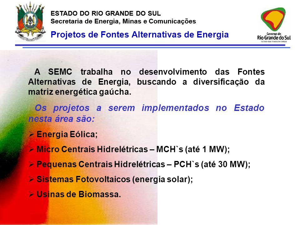 ESTADO DO RIO GRANDE DO SUL Secretaria de Energia, Minas e Comunicações ESTADO DO RIO GRANDE DO SUL Secretaria de Energia, Minas e Comunicações Projet