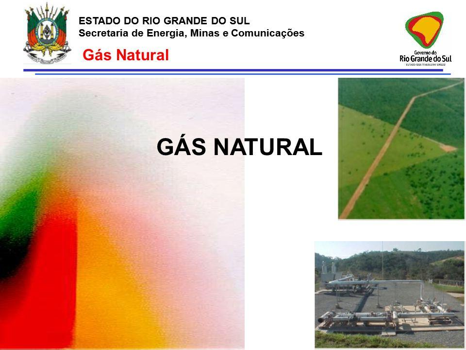 ESTADO DO RIO GRANDE DO SUL Secretaria de Energia, Minas e Comunicações ESTADO DO RIO GRANDE DO SUL Secretaria de Energia, Minas e Comunicações Gás Na