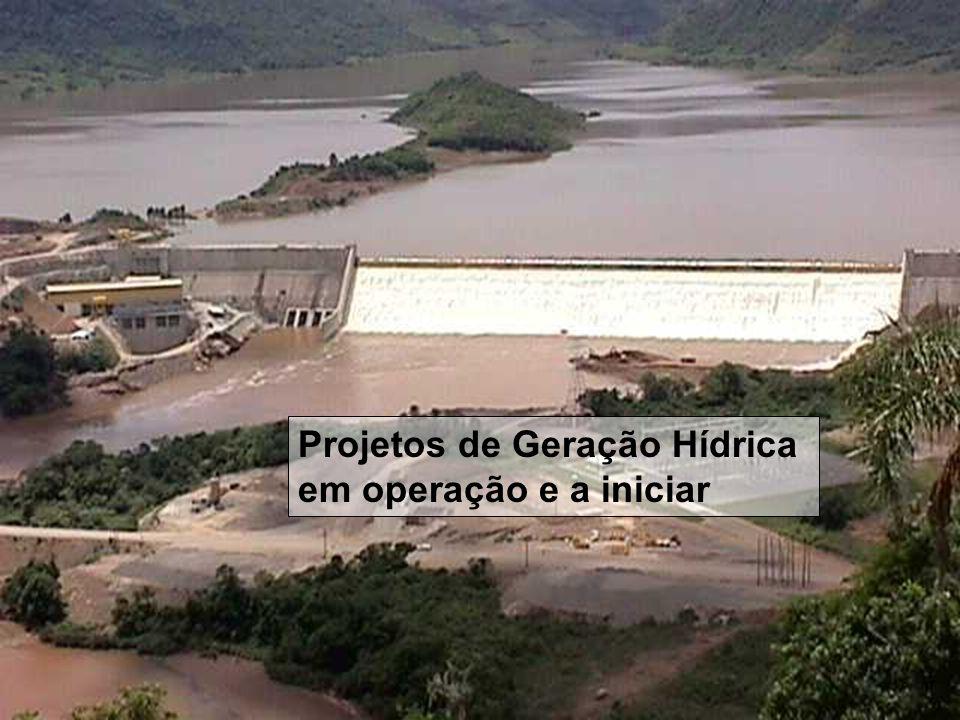 ESTADO DO RIO GRANDE DO SUL Secretaria de Energia, Minas e Comunicações Projetos de Geração Hídrica em operação e a iniciar