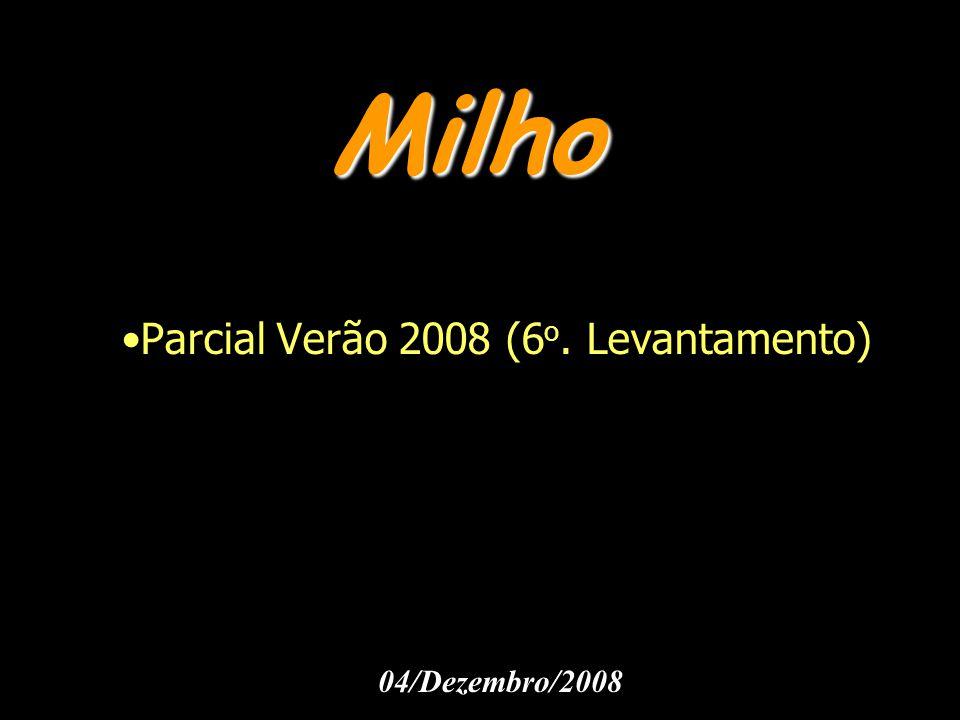 Milho Parcial Verão 2008 (6 o. Levantamento) 04/Dezembro/2008