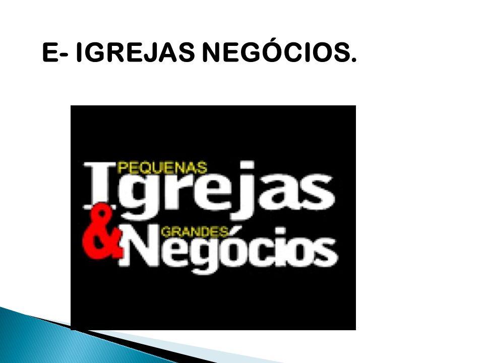 E- IGREJAS NEGÓCIOS.