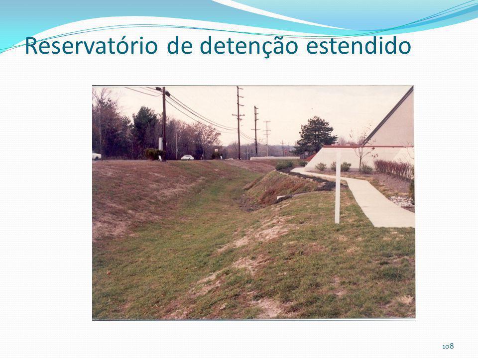 Reservatório de detenção estendido (enchente+melhoria da qualidade das aguas pluviais) 107