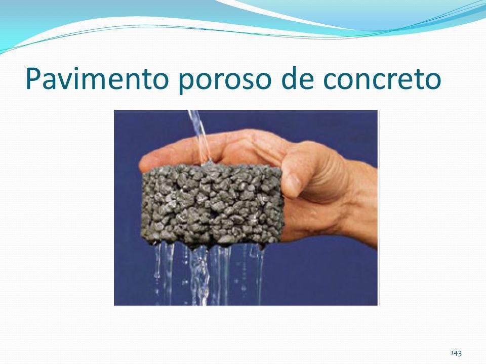 Pavimento permeável pavimento poroso de concreto BMP 142
