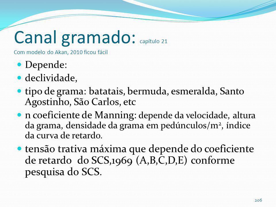 Eficiência do canal gramado 205 TSSTPTNMetais pesados Canal gramado 38% +- 31%14 +-23%14% +- 41%9% a 62%