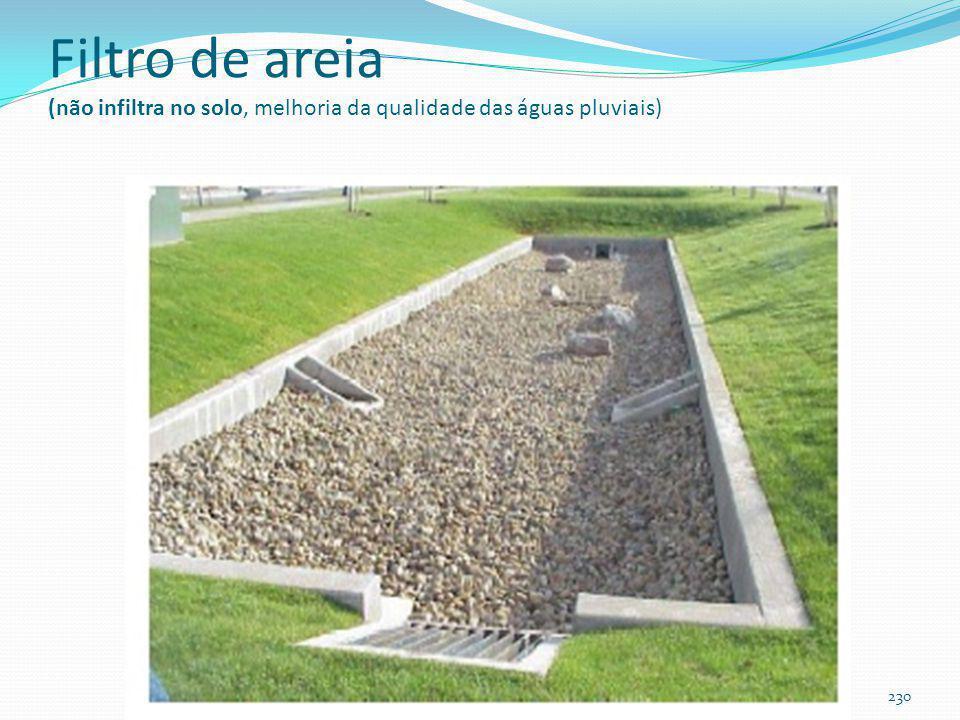 Eficiência do filtro de areia 229 TSSTPTNMetais pesados Filtro de areia 66% a 95%4% a 51%44 a 47%34 a 88%