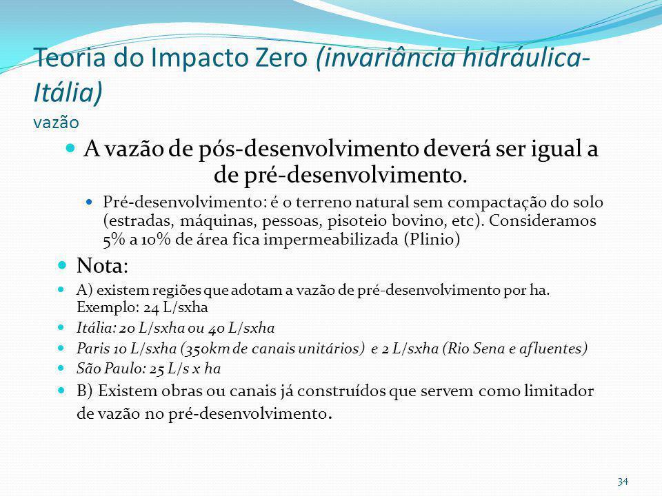 , Conceito de Impacto Zero Vazão infiltração 33
