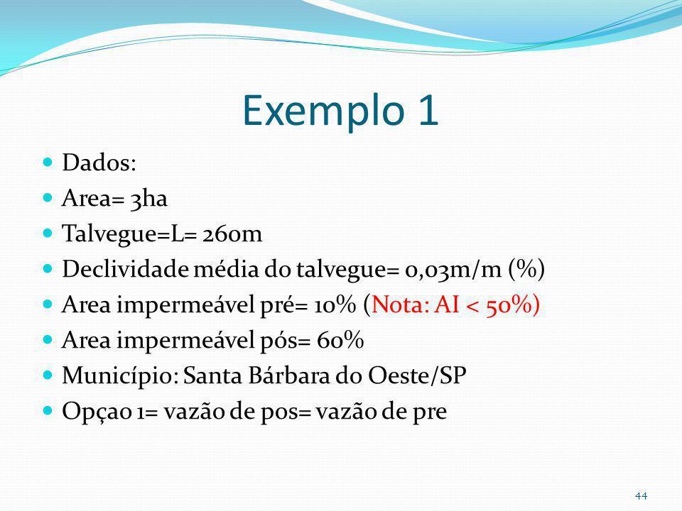 Inicio do exemplo 1 Caso 1 Opção 1 43