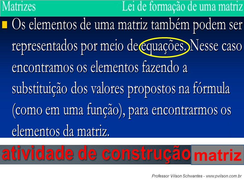 Professor Vilson Schwantes - www.pvilson.com.br matriz