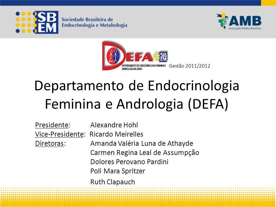 DEFA (gestão 2011/2012) O DEFA é um departamento que não possui eventos nacionais anuais ou bianuais.
