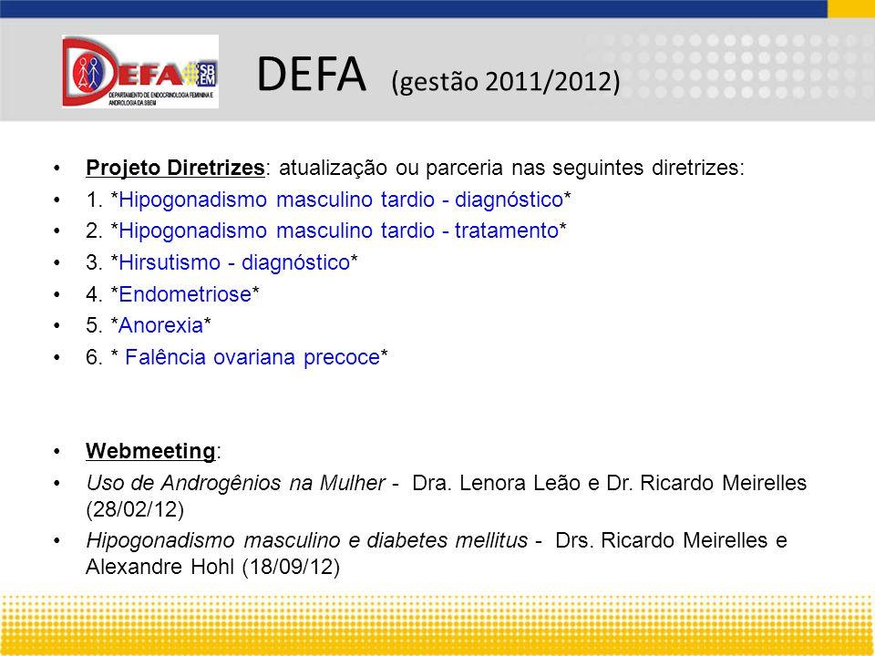 O DEFA apoiou o evento coordenado pela Dra.