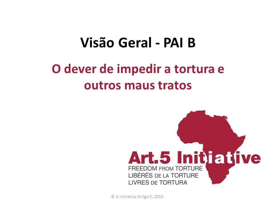 Visão Geral - PAI B O dever de impedir a tortura e outros maus tratos © A Iniciativa Artigo 5, 2013
