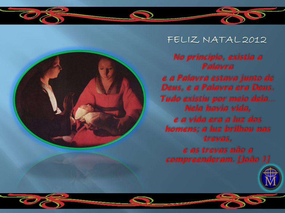 Natal Na obscuridade, apareceu uma luz tênue, um alento frágil e puro do recém- nascido, encarnado em Maria por obra do Espírito.
