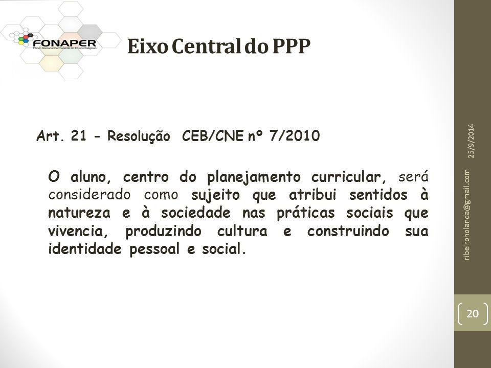 Eixo Central do PPP Art.