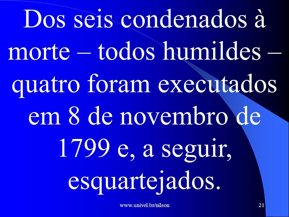 www.univel.br/nilson22 Revolução Pernambucana de 1817
